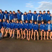 Das tolle U-13 Team beim morgendlichen Strandspaziergang.